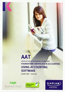 USING ACCOUNTING SOFTWARE - STUDY TEXT, Paperback / softback Book