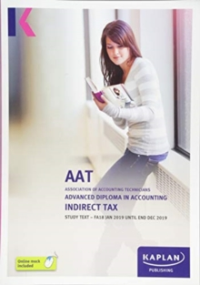 INDIRECT TAX (FA18) - STUDY TEXT, Paperback / softback Book