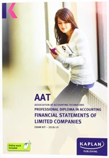 FINANCIAL STATEMENTS OF LIMITED COMPANIES - EXAM KIT, Paperback / softback Book