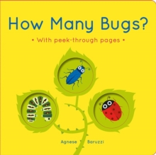 How Many Bugs? : A board book with peek-through pages, Board book Book