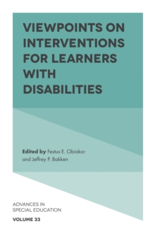 Viewpoints on Interventions for Learners with Disabilities, Hardback Book