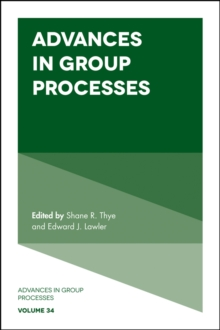 Advances in Group Processes, Hardback Book