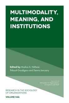 Multimodality, Meaning, and Institutions, Hardback Book