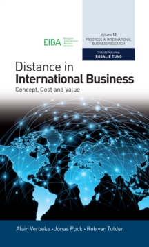 Distance in International Business : Concept, Cost and Value, Hardback Book