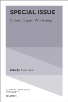 Special Issue : Cultural Expert Witnessing, Hardback Book