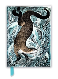 Angela Harding: Fishing Otter (Foiled Journal), Notebook / blank book Book