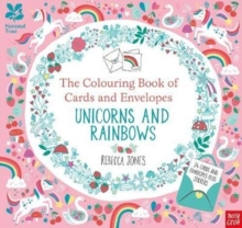National Trust: The Colouring Book of Cards and Envelopes - Unicorns and Rainbows, Paperback / softback Book