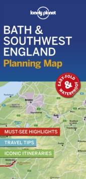 Lonely Planet Bath & Southwest England Planning Map, Sheet map, folded Book