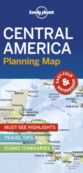 Lonely Planet Central America Planning Map, Sheet map, folded Book