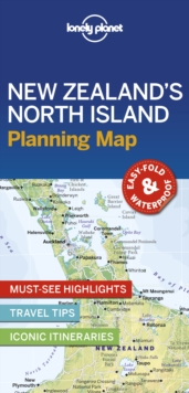 Lonely Planet New Zealand's North Island Planning Map, Sheet map, folded Book