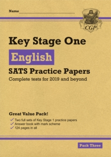 New KS1 English SATS Practice Papers: Pack 3 (for the tests in 2019), Paperback / softback Book