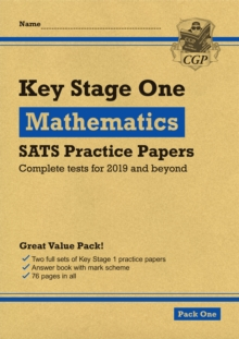 New KS1 Maths SATS Practice Papers: Pack 1 (for the 2019 tests), Paperback / softback Book