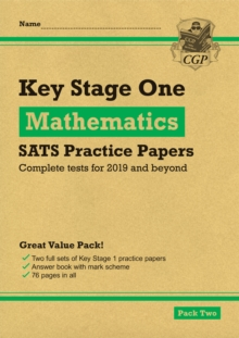 New KS1 Maths SATS Practice Papers: Pack 2 (for the 2019 tests), Paperback / softback Book