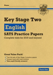 New KS2 English SATS Practice Papers: Pack 1 (for the tests in 2019), Paperback / softback Book