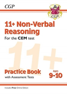 New 11+ CEM Non-Verbal Reasoning Practice Book & Assessment Tests - Ages 9-10 (with Online Edition), Paperback / softback Book