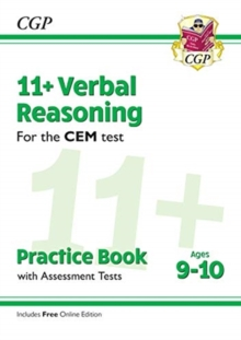 New 11+ CEM Verbal Reasoning Practice Book & Assessment Tests - Ages 9-10 (with Online Edition), Paperback / softback Book