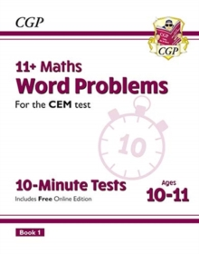 New 11+ CEM 10-Minute Tests: Maths Word Problems - Ages 10-11 Book 1 (with Online Edition), Paperback / softback Book