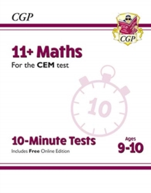 New 11+ CEM 10-Minute Tests: Maths - Ages 9-10 (with Online Edition), Paperback / softback Book