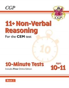 New 11+ CEM 10-Minute Tests: Non-Verbal Reasoning - Ages 10-11 Book 2 (with Online Edition), Paperback / softback Book