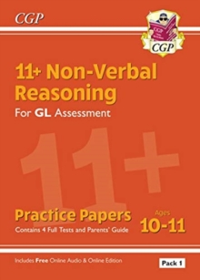 New 11+ GL Non-Verbal Reasoning Practice Papers: Ages 10-11 Pack 1 (inc Parents' Guide & Online Ed), Paperback / softback Book