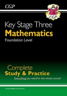 New KS3 Maths Complete Study & Practice - Foundation (with Online Edition), Paperback / softback Book