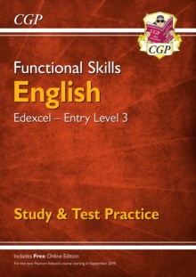 New Functional Skills Edexcel English Entry Level 3 - Study & Test Practice (with Online Edition), Paperback / softback Book