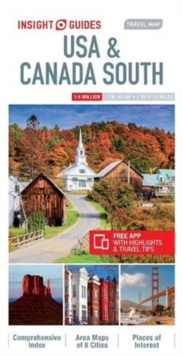 Insight Guides Travel Map USA & Canada South (Insight Maps), Sheet map Book