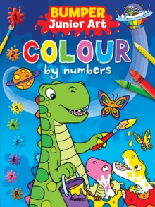 Bumper Junior Art Colour by Numbers, Paperback Book