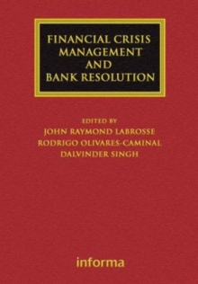 Financial Crisis Management and Bank Resolution, Hardback Book