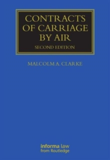 Contracts of Carriage by Air, Hardback Book