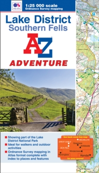 Lake District (Southern Fells) Adventure Atlas, Paperback Book
