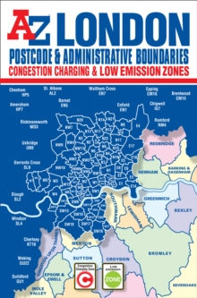 London Postcode & Administrative Boundaries Map, Sheet map, folded Book