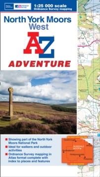 North York Moors (West) Adventure Atlas, Paperback Book