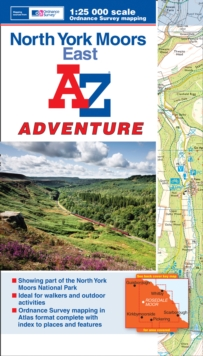North York Moors (East) Adventure Atlas, Paperback Book