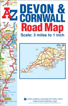 Devon & Cornwall Road Map, Sheet map, folded Book