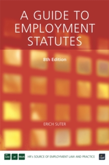 A Guide to Employment Statutes, Paperback Book