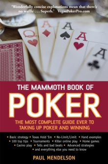 The Mammoth Book of Poker, Paperback Book