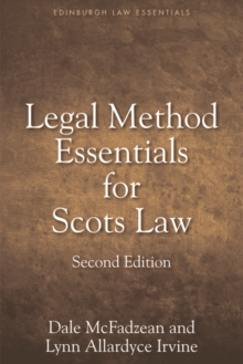 Legal Method Essentials for Scots Law, Paperback / softback Book