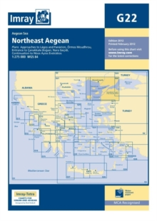Imary Chart G22 : Northeast Aegean Sea, Sheet map, folded Book