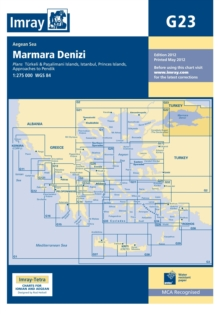 Imray Chart G23 : Maramara Denizi, Sheet map, folded Book