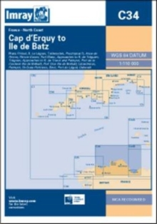 Imray Chart C34 : Cap D'erquy to Ile De Batz, Sheet map, folded Book
