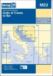 Imray Chart M23 : Adriatic Sea Passage Chart; Golfo Di Trieste to Bar and Promontorio Del Gargano, Sheet map, folded Book