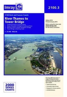 Imray Chart 2100.3 : The River Thames - Tower Bridge to Canvey Island, Sheet map, folded Book