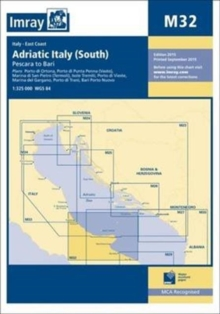 Imray Chart M32 : Adriatic Italy (South), Paperback Book