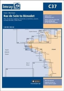 Imray Chart C37 : Raz de Sein to Benodet, Sheet map, folded Book