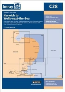Imray Chart C28 : Harwich to Wells-next-the-Sea, Sheet map, folded Book