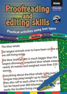 Proofreading and Editing Skills : Practical Activities Using Text Types Middle, Paperback Book