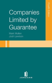Companies Limited by Guarantee, Hardback Book
