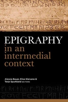 Epigraphy in an intermedial context, Hardback Book