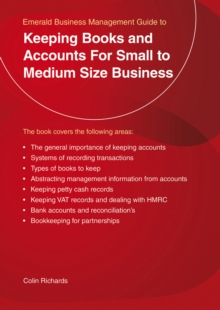 Keeping Books and Accounts for Small to Medium Size Business, Paperback Book